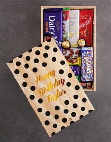 gifts: Personalised Happy Birthday Chocolate Crate!