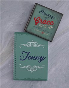 gifts: Personalised Notebook And Blessings of Grace!