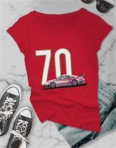 gifts: Personalised Ladies Year Car T Shirt!