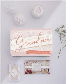 gifts: Personalised Grandma Bath Spoils Keepsake Box!