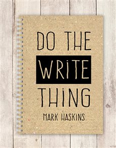 gifts: Personalised Write Thing Notebook!