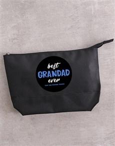 gifts: Personalised Best Grandad Ever Wash Bag!