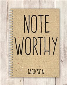 gifts: Personalised Note Worthy Notebook!