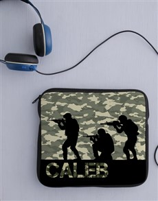 gifts: Personalised Neoprene Soldier Tablet Cover!