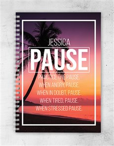 gifts: Personalised Pause Notebook!