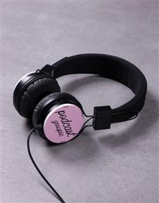 gifts: Personalised Pink Groupie Headphones!