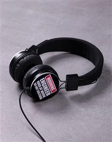 gifts: Personalised Warning Headphones!