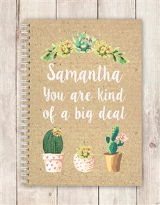 gifts: Personalised Big Deal Notebook!