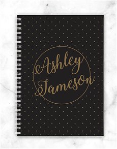 gifts: Personalised Dotted Style Notebook!