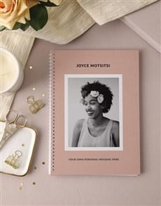 gifts: Personalised Vintage Pink Photo Notebook!