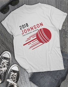 gifts: Personalised Surname Cricket T Shirt!