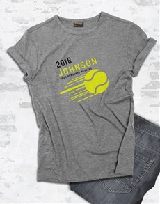 gifts: Personalised Surname Tennis T Shirt!