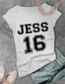 gifts: Personalised Sports Ladies T Shirt!