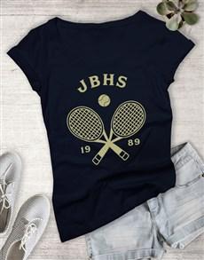 gifts: Personalised Tennis Team Ladies T Shirt!