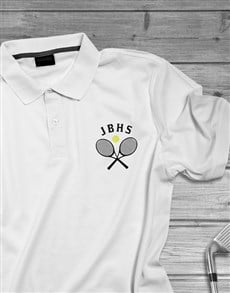 gifts: Personalised Tennis Initials Golf Shirt!