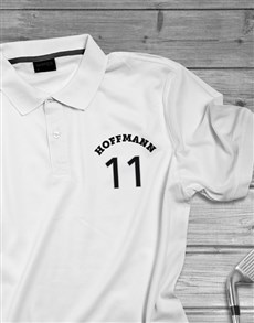 gifts: Personalised Surname Sports Polo Shirt!