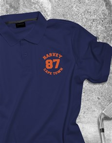 gifts: Personalised Contempo Printed Polo Shirt !