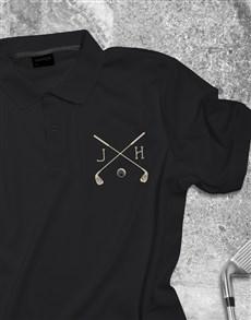 gifts: Personalised Golf Club Printed Golf Shirt!