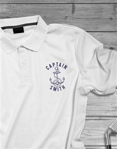 gifts: Personalised Captain Golf Shirt !
