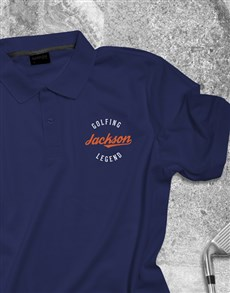 gifts: Personalised Golfing Legend Golf Shirt !