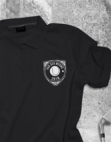 gifts: Personalised Tennis Badge Printed Polo Shirt !