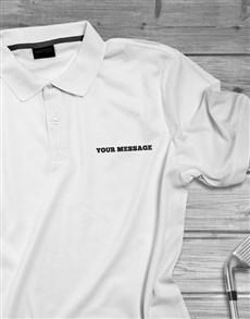 gifts: Personalised Modern Printed Golf Shirt !