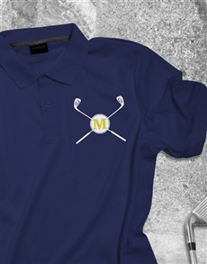 gifts: Personalised Golfing Initial Golf Shirt!