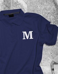 gifts: Personalised Initial Printed Golf Shirt!