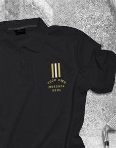 gifts: Personalised Stripe Polo Shirt!