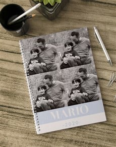 gifts: Personalised Name and Year Photo Notebook!