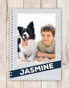 gifts: Personalised Photo Diagonal Notebook!