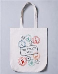 gifts: Personalised Bon Voyage Tote Bag!