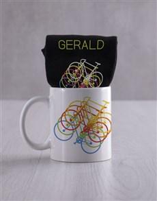 gifts: Personalised Cycling Socks And Mug !