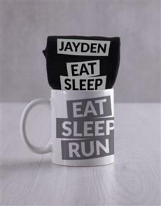 gifts: Personalised Running Socks And Mug !