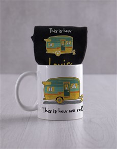 gifts: Personalised How We Roll Socks And Mug!