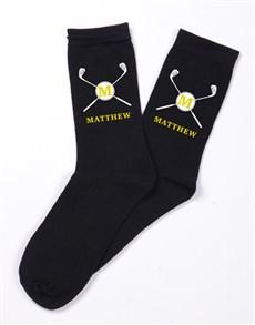 gifts: Personalised Golf Monogram Socks!