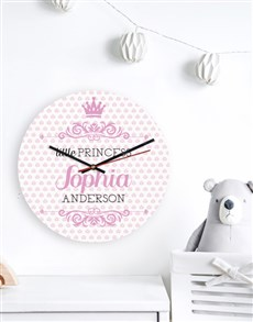 gifts: Personalised Little Princess Clock!