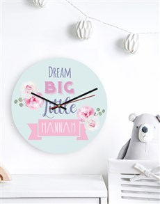gifts: Personalised Dream Big Clock!