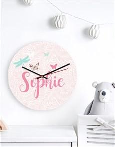 gifts: Personalised Butterflies Clock!