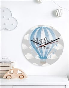 gifts: Personalised Blue Balloon Clock!