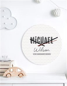 gifts: Personalised Dotted Clock!