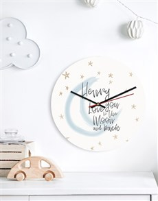 gifts: Personalised Moon Clock!