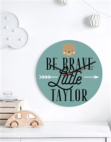 gifts: Personalised Be Brave Clock!