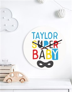 gifts: Personalised Super Baby Clock!