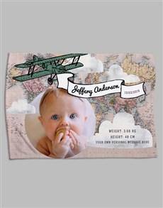 gifts: Personalised Map Birth Fleece Blanket!