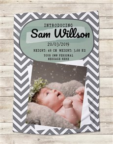 gifts: Personalised Photo Birth Bed Set!