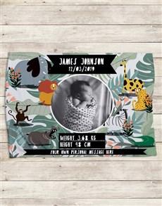 gifts: Personalised Wild Birth Fleece Blanket!