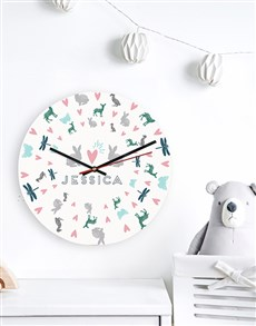 gifts: Personalised Garden Cat MDF Clock!