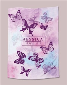 gifts: Personalised Watercolour Butterfly Bed Set!