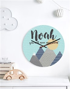 gifts: Personalised Move Mountains MDF Clock!